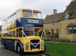 Classic bus for weddings in Cheltenham